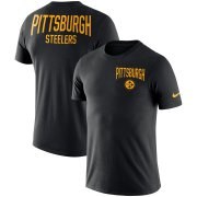 Wholesale Cheap Pittsburgh Steelers Nike Sideline Facility Performance T-Shirt Black