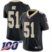 Wholesale Cheap Nike Saints #51 Cesar Ruiz Black Team Color Youth Stitched NFL 100th Season Vapor Untouchable Limited Jersey