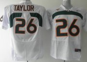 Wholesale Cheap Miami Hurricanes #26 Taylor White Jersey
