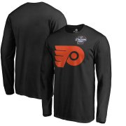 Wholesale Cheap Men's Philadelphia Flyers Black 2019 Stadium Series Primary Logo Long Sleeve T-Shirt