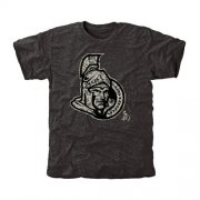 Wholesale Cheap Men's Ottawa Senators Black Rink Warrior T-Shirt