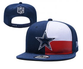 Wholesale Cheap Cowboys Team Logo Navy Red 2019 Draft Adjustable Hat YD