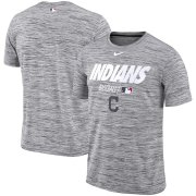 Wholesale Cheap Cleveland Indians Nike Authentic Collection Velocity Team Issue Performance T-Shirt Gray