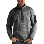 Wholesale Cheap Detroit Red Wings Antigua Fortune Quarter-Zip Pullover Jacket Charcoal