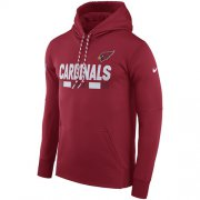 Wholesale Cheap Men's Arizona Cardinals Nike Cardinal Sideline ThermaFit Performance PO Hoodie