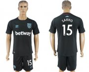 Wholesale Cheap West Ham United #15 Sakho Away Soccer Club Jersey