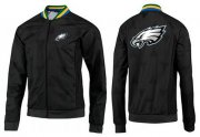 Wholesale Cheap NFL Philadelphia Eagles Team Logo Jacket Black_2