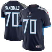 Wholesale Cheap Nike Titans #70 Ty Sambrailo Navy Blue Team Color Youth Stitched NFL Vapor Untouchable Limited Jersey