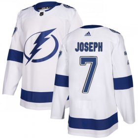 Cheap Adidas Lightning #7 Mathieu Joseph White Road Authentic Youth Stitched NHL Jersey
