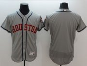 Wholesale Cheap Astros Blank Grey Flexbase Authentic Collection Stitched MLB Jersey