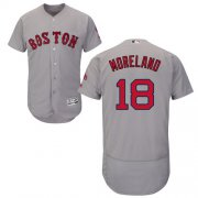 Wholesale Cheap Red Sox #18 Mitch Moreland Grey Flexbase Authentic Collection Stitched MLB Jersey