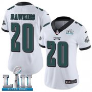 Wholesale Cheap Nike Eagles #20 Brian Dawkins White Super Bowl LII Women's Stitched NFL Vapor Untouchable Limited Jersey