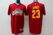 Wholesale Cheap Cleveland Cavaliers #23 LeBron James Revolution 30 Swingman 2014 New Red Short-Sleeved Jersey