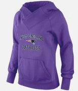 Wholesale Cheap Women's New England Patriots Heart & Soul Pullover Hoodie Purple