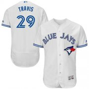 Wholesale Cheap Blue Jays #29 Devon Travis White Flexbase Authentic Collection Stitched MLB Jersey