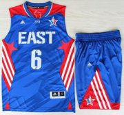 Wholesale Cheap 2013 All-Star Eastern Conference Miami Heat 6 LeBron James Blue Revolution 30 Swingman Suits