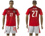Wholesale Cheap Austria #27 Alaba Red Home Soccer Country Jersey