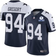 Wholesale Cheap Nike Cowboys #94 Randy Gregory Navy Blue Thanksgiving Men's Stitched With Established In 1960 Patch NFL Vapor Untouchable Limited Throwback Jersey