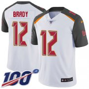 Wholesale Cheap Nike Buccaneers #12 Tom Brady White Men's Stitched NFL 100th Season Vapor Untouchable Limited Jersey