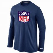 Wholesale Cheap Nike NFL Logos Long Sleeve T-Shirt Dark Blue