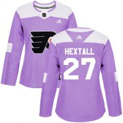 Wholesale Cheap Adidas Flyers #27 Ron Hextall Purple Authentic Fights Cancer Women's Stitched NHL Jersey