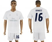 Wholesale Cheap Real Madrid #16 Kovacic Marine Environmental Protection Home Soccer Club Jersey