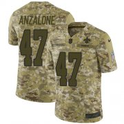 Wholesale Cheap Nike Saints #47 Alex Anzalone Camo Men's Stitched NFL Limited 2018 Salute To Service Jersey