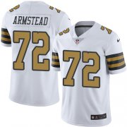Wholesale Cheap Nike Saints #72 Terron Armstead White Men's Stitched NFL Limited Rush Jersey