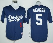 Wholesale Cheap Dodgers #5 Corey Seager Navy Blue Cooperstown Stitched MLB Jersey