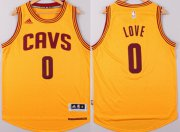 Wholesale Cheap Cleveland Cavaliers #0 Kevin Love Revolution 30 Swingman 2014 New Yellow Jersey