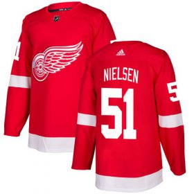 Wholesale Cheap Adidas Red Wings #51 Frans Nielsen Red Home Authentic Stitched NHL Jersey