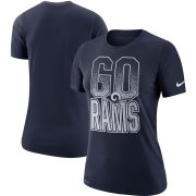 Wholesale Cheap Los Angeles Rams Nike Women's Local Verbiage Performance T-Shirt Navy