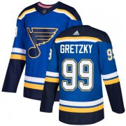 Wholesale Cheap Adidas Blues #99 Wayne Gretzky Blue Home Authentic Stitched NHL Jersey