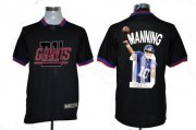 Wholesale Cheap Nike Giants #10 Eli Manning Black Men's NFL Game All Star Fashion Jersey