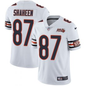 Wholesale Cheap Nike Bears #87 Adam Shaheen White Men\'s 100th Season Stitched NFL Vapor Untouchable Limited Jersey