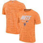 Wholesale Cheap New York Mets Nike Authentic Collection Velocity Team Issue Performance T-Shirt Orange