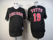 Wholesale Cheap Reds #19 Joey Votto Black Stitched MLB Jersey