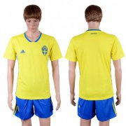 Wholesale Cheap Sweden Blank Home Soccer Country Jersey