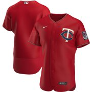Wholesale Cheap Minnesota Twins Men's Nike Red Alternate 2020 Authentic Official Team MLB Jersey