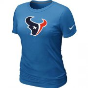 Wholesale Cheap Women's Nike Houston Texans Logo NFL T-Shirt Light Blue