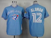 Wholesale Cheap Mitchell And Ness 1993 Blue Jays #12 Roberto Alomar Blue Stitched MLB Throwback Jersey