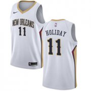 Wholesale Cheap Nike New Orleans Pelicans #11 Jrue Holiday White NBA Swingman Association Edition Jersey