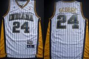 Wholesale Cheap Indiana Pacers #24 Paul George White With Pinstripe Swingman Throwback Jersey
