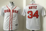 Wholesale Cheap Red Sox #34 David Ortiz White Cool Base Stitched Youth MLB Jersey