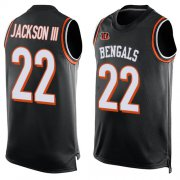 Wholesale Cheap Nike Bengals #22 William Jackson III Black Team Color Men's Stitched NFL Limited Tank Top Jersey