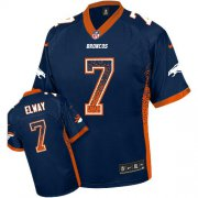 Wholesale Cheap Nike Broncos #7 John Elway Navy Blue Alternate Men's Stitched NFL Elite Drift Fashion Jersey