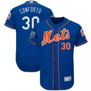 Wholesale Cheap Mets #30 Michael Conforto Blue 2018 Spring Training Authentic Flex Base Stitched MLB Jersey