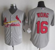 Wholesale Cheap Cardinals #16 Kolten Wong Grey New Cool Base Stitched MLB Jersey