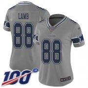 Wholesale Cheap Nike Cowboys #88 CeeDee Lamb Gray Women's Stitched NFL Limited Inverted Legend 100th Season Jersey