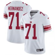 Wholesale Cheap Nike Giants #71 Will Hernandez White Men's Stitched NFL Vapor Untouchable Limited Jersey